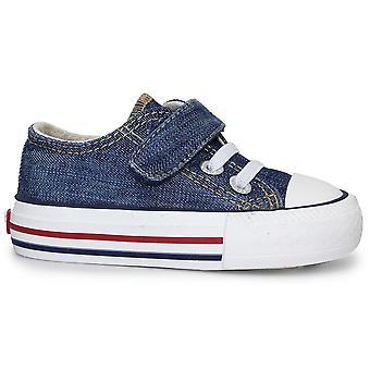 Levis jongens Trucker Mini laag Canvas schoenen Denim blauw
