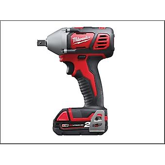 Milwaukee M18 Biw12-202c Compact 1/2in Impact Wrench 18 Volt 2 X 2.0ah Li-Ion
