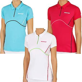 Babolat Womens Tennis Match Performance Short Sleeve Polo Shirt Top