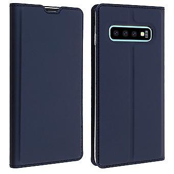 Slim flip wallet case, Business series for Samsung Galaxy S10 - Dark blue