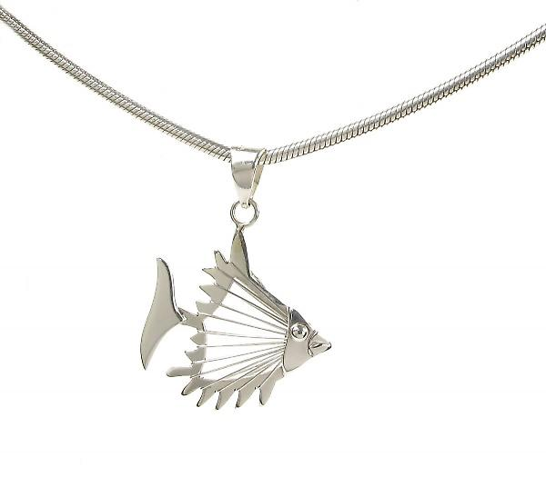 Cavendish French Sterling Silver Open Fish Pendant