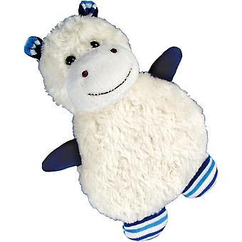 Children's Faux Fur & Fleece Cherry Pit Pillow: Hippo