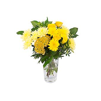 Botanicly - Bouquets | Bunch of Flowers Kim medium, yellow | Height: 40 cm