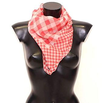 Dolce & Gabbana Red Checkered Cotton Scarf -- SWS1265605