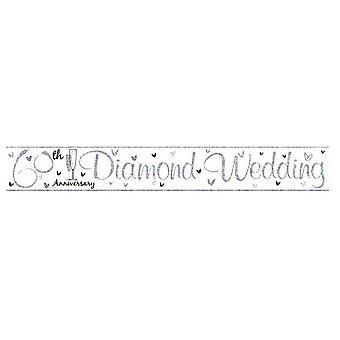 Simon Elvin 60th Diamond Wedding Anniversary Foil Party Banner