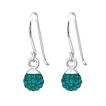 Crystal Ball - 925 Sterling Silver Crystal Earrings - W18850X