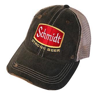 Sombrero de malla Vintage de la cerveza de Schmidt