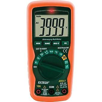 Handheld multimeter digital Extech MN47 Calibrated to: Manufacturer's standards (no certificate) CAT III 600 V Display