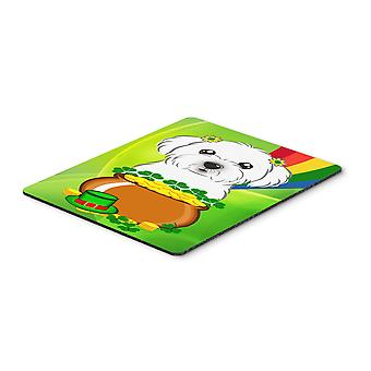 Maltese St. Patrick's Day Mouse Pad, Hot Pad or Trivet BB1952MP