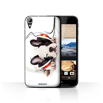 STUFF4 Case/Cover for HTC Desire 830/Snooze Headphone Dog/Funny Animals