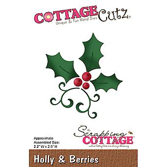 CottageCutz Die-Holly & Berries, 2.2
