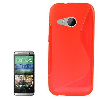 Mobile case TPU protective case for HTC one mini 2 Red