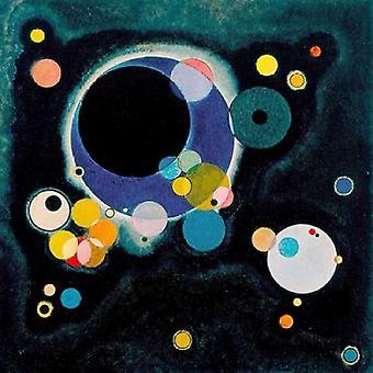 Skisse for flere sirkler Poster trykk av Wassily Kandinsky