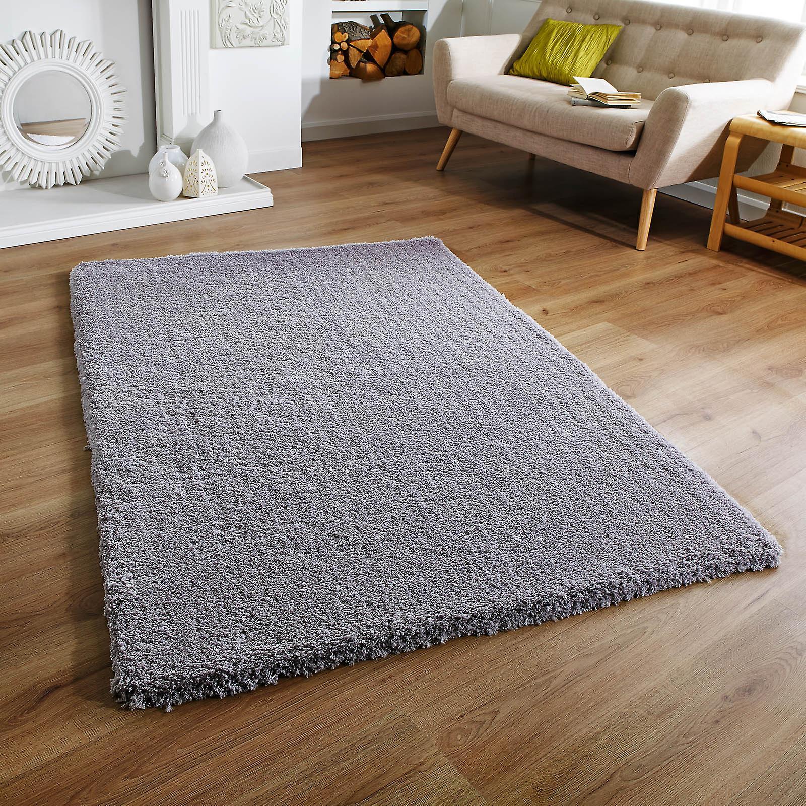 Douceur des tapis Shaggy gris