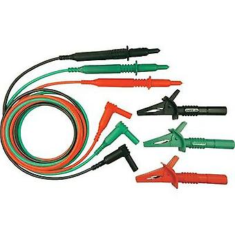 Safety test lead et 1.5 m Green, Red, Black Cliff