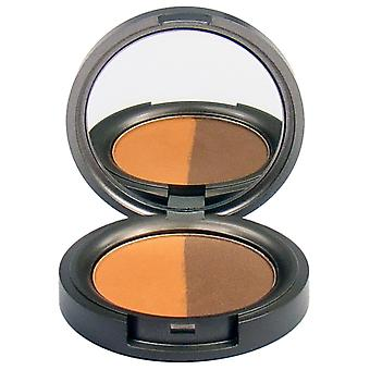 Beauty Without Cruelty Pressed Mineral Eyeshadow Duo Rich Tamarind