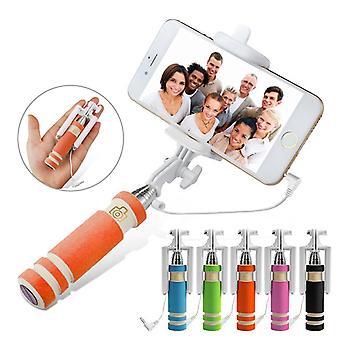 ONX3 (Orange) Huawei P10 Plus universel réglable Selfie Mini Stick Pocket taille monopode déclencheur à distance intégré