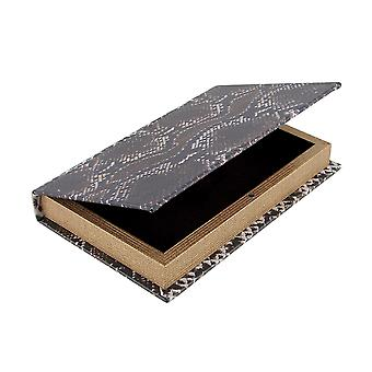 Snake Print Faux Leather Book Secret Stash Box