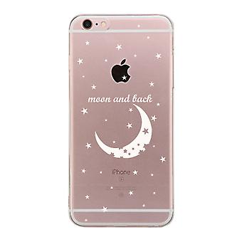 Apple iPhone 6 6S Plus Transparent Matching Phone Cover (Moon & Back Right)