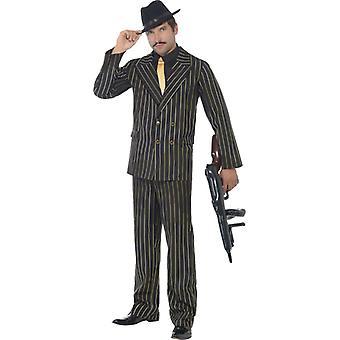 Mafia boss mafia costume gold stripes mafia costume gangster 20s
