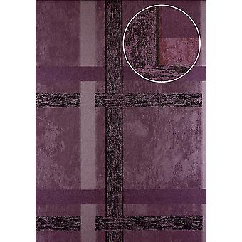 Stripes Atlas 24C-5060-2 non-woven wallpaper copper smooth geometric shapes and metal accents pastel purple 7,035 m2