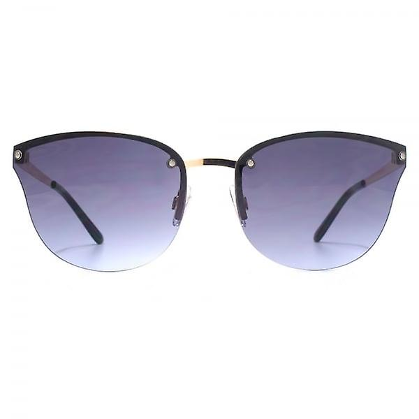 French Connection Rimless Cateye Sunglasses In Gold Blue