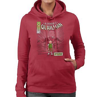 Quailman No More Doug Comic Superhero Women's Hooded Sweatshirt