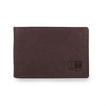 37908 tegnebog pung tegnebog card indehaveren ægte læder mand. 6-rum kontant kort og dokumentation 1 til billetter.