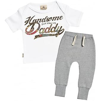 Spoilt Rotten Handsome Like Daddy Baby T-Shirt & Joggers Outfit Set