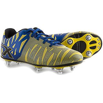 X BLADES wild thing 6 stud rugby boots [blue/yellow]