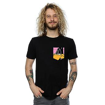 Looney Tunes Men's Daffy Duck Face Faux Pocket T-Shirt