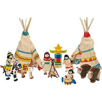 Goki Flexible puppets, Indian camp (Toys , Preschool , Playsets , Stages)