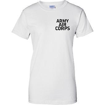 Gelicentieerde MOD - Britse leger Army Air Corps - tekst - dames borst Design T-Shirt