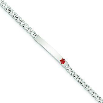 Sterling Zilver gepolijst medische Curb Link ID Armband - lengte: 7,5 tot 8,5