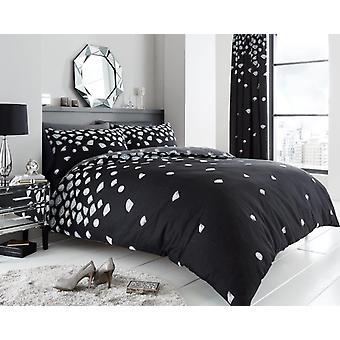 Be Jewelled Polycotton Diamond Print Modern Duvet Cover Bedding Set All Sizes