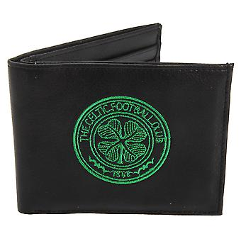 Celtic FC Mens Official Leather Wallet With Embroidered Football Crest