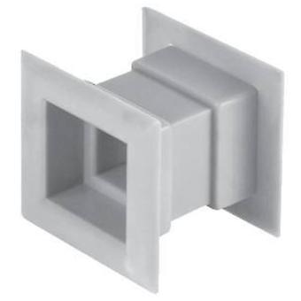 4pcs Mini Plaza aire ventilación puerta rejilla ventilación interna cubierta de color blanco
