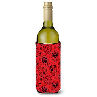 Dag van de dood oranje wijnfles Beverge isolator Hugger