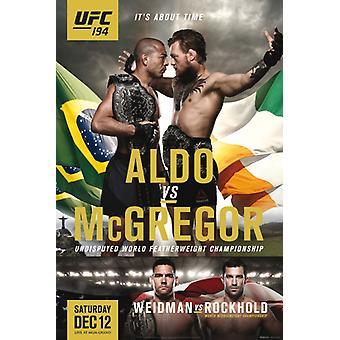 UFC - 194 - Aldo Vs McGregor Plakat Poster Print