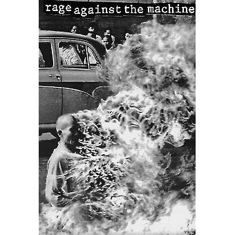 Rage Against The Machine Monk On Fire Poster Print