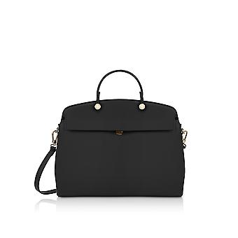 FURLA 928213 ladies black leather handbags