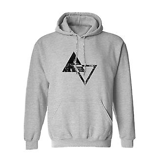 Triangle City Pattern Geometric Graphic Men's Sports Grey Hoodie