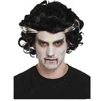 Adult Male Vampire Wig Halloween Fancy Dress Accessory