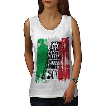 Italia kvinner WhiteTank toppen | Wellcoda