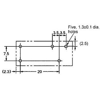 PCB relays 48 Vdc 12 A 1 change-over Omron G2RL-1-