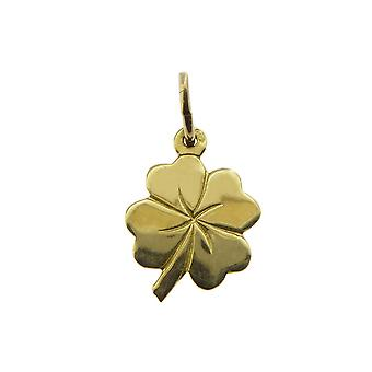 Yellow Gold four-leaf clover pendant