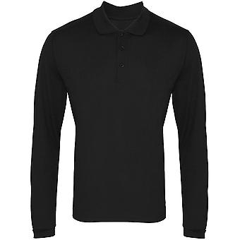 Premier Mens & Womens/Ladies Long Sleeve Coolchecker Pique Polo Shirt