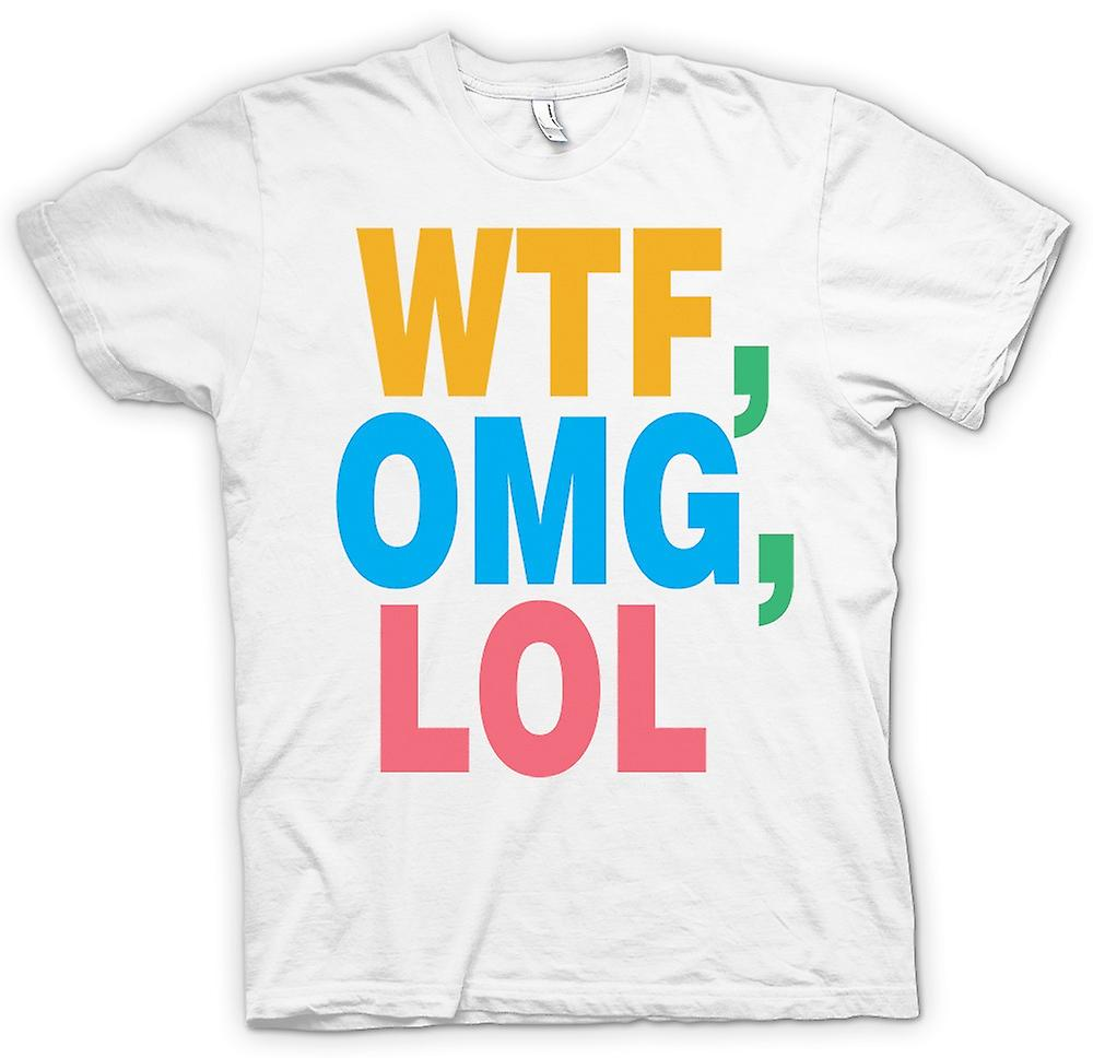 Womens T-shirt - WTF, OMG, LOL - Funny