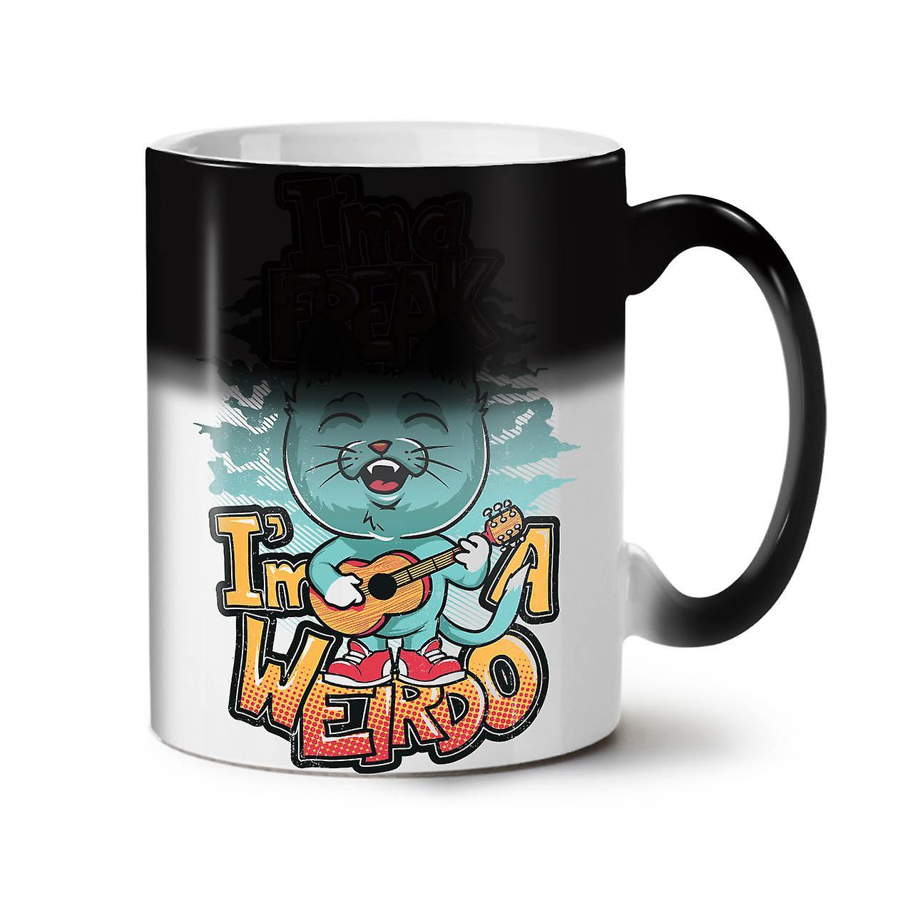 Ima Freak Weirdo Cute NEW Black Colour Changing Tea Coffee Ceramic Mug 11 oz   Wellcoda