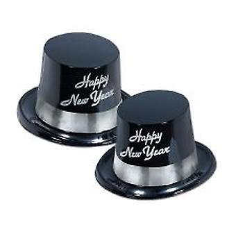 Feliz año nuevo sombreros - negro y plata el legado (10)